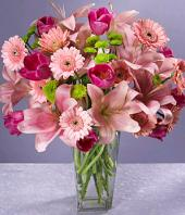Pink Blush Gifts toCox Town, flowers to Cox Town same day delivery