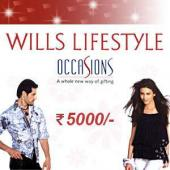 Wills Lifestyle Gift Voucher 5000 Gifts toIndia, Gifts to India same day delivery
