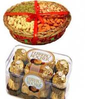 Sweet Nutty Magic Gifts toChamrajpet, combo to Chamrajpet same day delivery