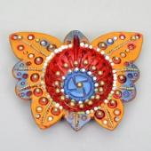 Butterfly Shaped Diya Gifts toIndia, Diya Set to India same day delivery