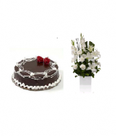 Chocolate cake with Occasion Casablanca Gifts toIndia, Combinations to India same day delivery