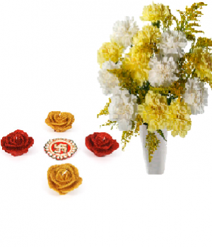 Blooming Friendship with Colorful Rose Diyas