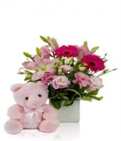 Surprise in Pink Gifts toShanthi Nagar, flowers to Shanthi Nagar same day delivery