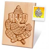 Wooden Engraved Plaque for Solo Portrait Gifts toBrigade Road, perfume for Women to Brigade Road same day delivery