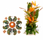 Festive Rangoli and Spring Delight Gifts toIndia, Combinations to India same day delivery