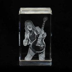Personalized 2D Crystal Cube Photo Engraved