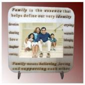 Personalized Family Photos on wood Desktop Gifts toIndia, personal gifts to India same day delivery