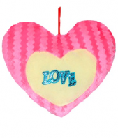 Heart Cushion Gifts toIndia, toys to India same day delivery