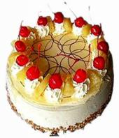Cream Pineapple cake small Gifts toShanthi Nagar, cake to Shanthi Nagar same day delivery