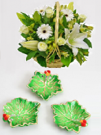 Green Diyas and Elegant Love Gifts toIndia, Combinations to India same day delivery