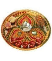 Pooja Thali Gifts toIndia, arthi thali to India same day delivery