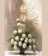 Elegance in White Gifts toBrigade Road, flowers to Brigade Road same day delivery