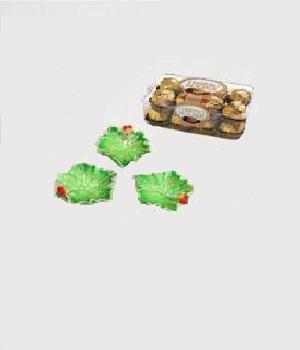 Choclate with Leaf Shaped Terracotta Diyas