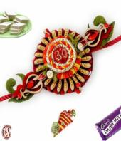 Om Rakhi Gifts toIndia, flowers and rakhi to India same day delivery