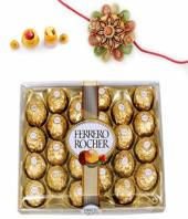 Ferrero Rakhi Gifts toIndia, flowers and rakhi to India same day delivery