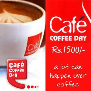 Cafe Coffee Day Gift Voucher 1500