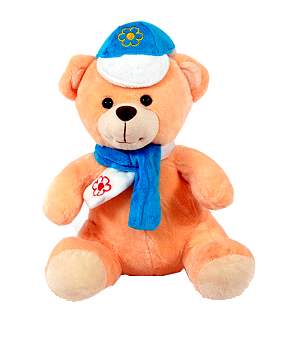 Cute Teddy with Muffler and Cap
