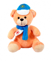 Cute Teddy with Muffler and Cap Gifts toIndia, teddy to India same day delivery
