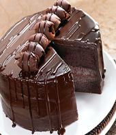Chocolate  truffle cake 1kg Gifts toAshok Nagar, cake to Ashok Nagar same day delivery