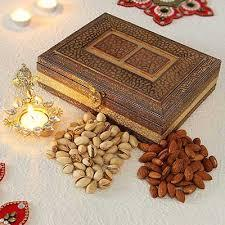 Dry fruit Gift in Engraved box