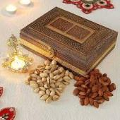 Dry fruit Gift in Engraved box Gifts toHebbal, dry fruit to Hebbal same day delivery