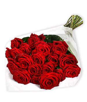 28 red roses Bunch