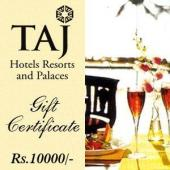 Taj Gift Voucher 10000 Gifts toIndia, Gifts to India same day delivery