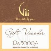 Gili Gift Voucher 5000 Gifts toIndia, Gifts to India same day delivery