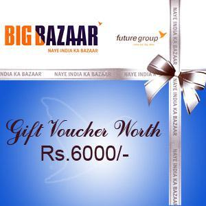 Big Bazaar Gift Voucher 6000