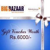 Big Bazaar Gift Voucher 6000 Gifts toIndia, sarees to India same day delivery