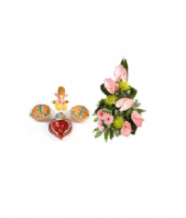 Divine Diya Set Diwali and Fantasia Gifts toIndia, Combinations to India same day delivery