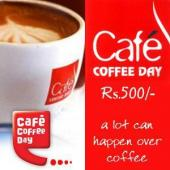 Cafe Coffee Day Gift Voucher 500 Gifts toIndia, Gifts to India same day delivery