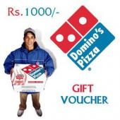 Dominos Gift Voucher 1000 Gifts toIndia, Gifts to India same day delivery