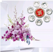 Floating Wishes and Exotic Charm Gifts toIndia, Combinations to India same day delivery