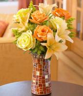 Autumn Bliss Gifts toIndia, sparsh flowers to India same day delivery