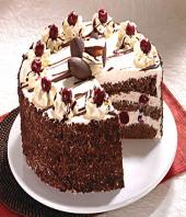 Black Forest small Gifts toHBR Layout, cake to HBR Layout same day delivery