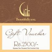 Gili Gift Voucher 2500 Gifts toIndia, Gifts to India same day delivery