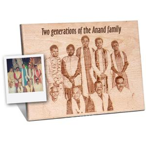 Wooden Engraved plaque for Group Photograph