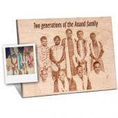 Wooden Engraved plaque for Group Photograph Gifts toIndia, flowers and rakhi to India same day delivery