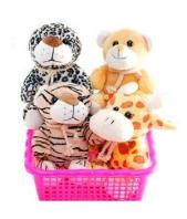 Group of Cute Soft animals Gifts toIndia, teddy to India same day delivery