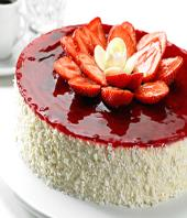 Strawberry cake 1kg Gifts toHBR Layout, cake to HBR Layout same day delivery
