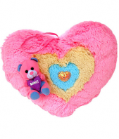 Heart Shape Soft Toys Gifts toIndia, toys to India same day delivery