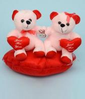 Charming Teddy Couple Gifts toIndia, teddy to India same day delivery