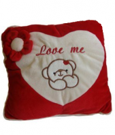 Love Me Square Pillow Gifts toIndia, teddy to India same day delivery