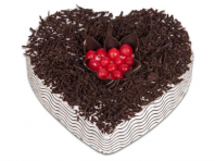Black Forest Heart Gifts toCooke Town, cake to Cooke Town same day delivery