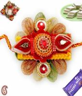 Fancy rakhi Gifts toIndia, flowers and rakhi to India same day delivery