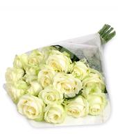 15 Luxury white roses Gifts toBasavanagudi, Flowers to Basavanagudi same day delivery