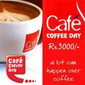 Cafe Coffee Day Gift Voucher 3000 Gifts toIndia, Gifts to India same day delivery
